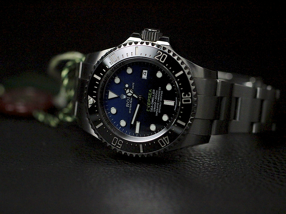 The well-designed copy Rolex Sea-Dweller Deepsea 126660 watches have D-blue dials.