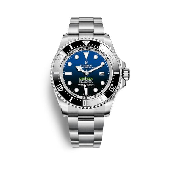 The durable copy Rolex Sea-Dweller Deepsea 126660 watches are Oystersteel, which can guarantee water resistance to 12,800 feet.