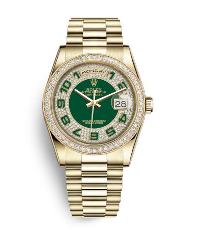 The perfect watches fake Rolex Day Date 118348 are worth for men.