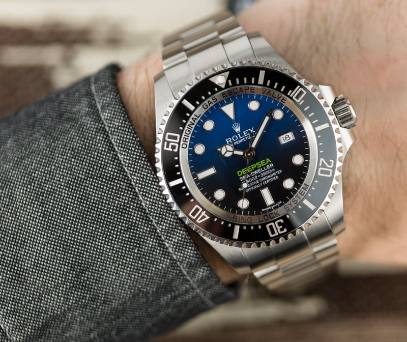 The 44 mm replica Rolex Sea-Dweller Deepsea 126660 watches are designed for men.