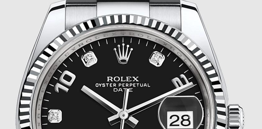 The luxury copy Rolex Datejust 34 115234 watches are made from white gold, Oystersteel and diamonds.