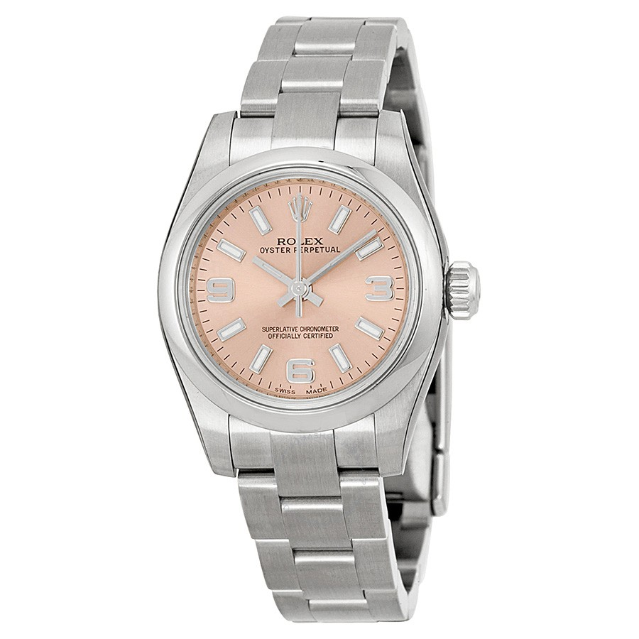 The attractive copy Rolex Oyster Perpetual 26 176200 watches have pink dials.
