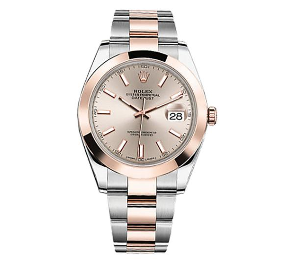 The sundust dials fake Rolex Datejust 126301 watches are designed for men.