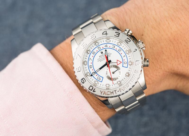 The durable fake watches are made from white gold and platinum.