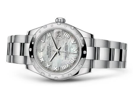 Swiss-made replication watches are delicately fixed with diamonds.